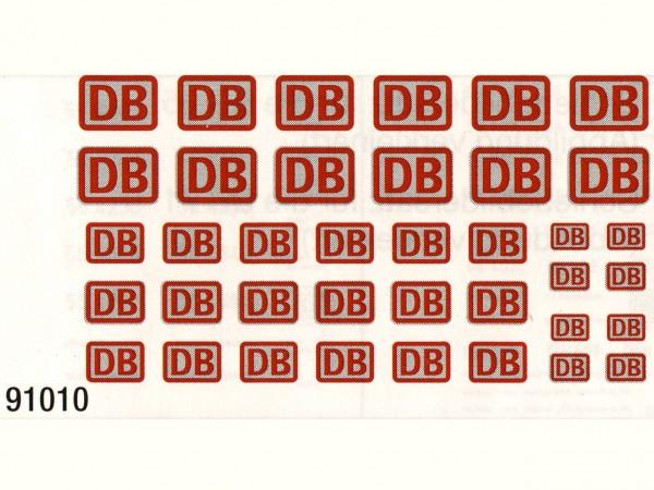 Schiebebildersatz DBAG-Emblem Epoche V, 3 verschiedene Größen