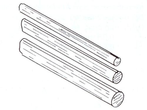 Holzprofile, Buchenholz, rund 2 mm ø