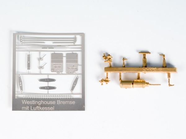 Westinghouse-Bremse mit angeflanschtem Luftbehälter und G-P Ventilen