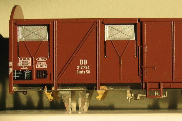 Umbausatz für ROCO bzw. Klein-Modellbahn Glmhs50 / Gas 245