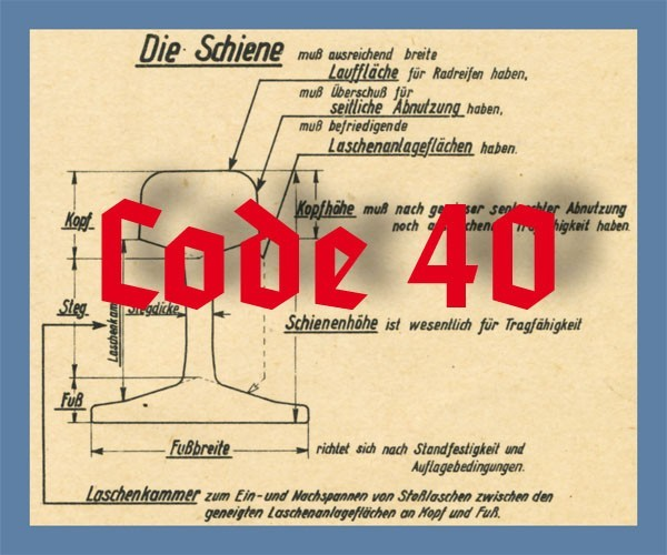 Schienenprofil Code 40 blank, 12 x 910 mm