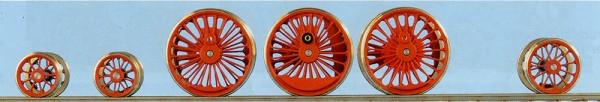 Baureihe 01 RP25 Tauschradsätze komplett; ohne Tender Räder für Roco-Lok Neubaukessel-Baureihe 01