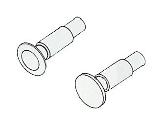 Federpuffer nicht durchstoßend 5,2 mm Ø
