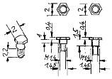 Schrauben mit Sechskantkopf, kurzer Bund für Steuerung, M1,4