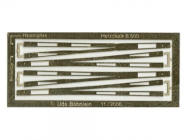 Herzstück-Futterstücke EW 500 (H0pur®/Fremo87/Proto87) - Version B