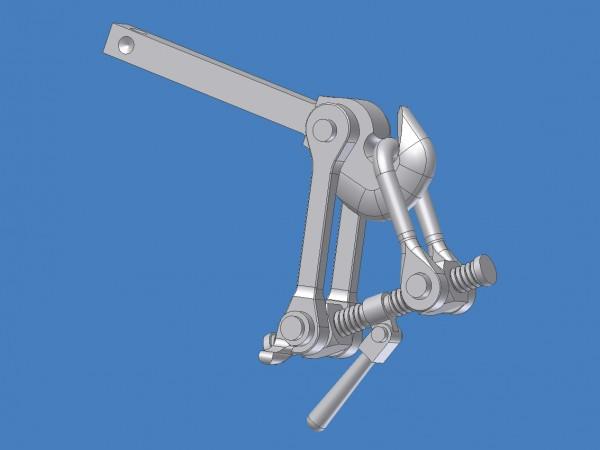 Schraubenkupplung für Fahrbetrieb optimiert, montiert, in Anlehnung an DB-Zeichnung Fwg 600.05.038.0