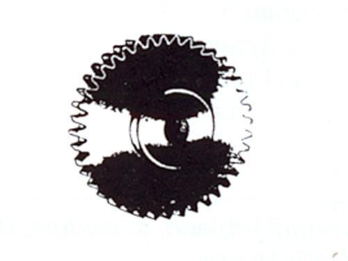 Zahnrad, Modul 0,4 12 Zähne Messing, Bohrung ø 1,97mm