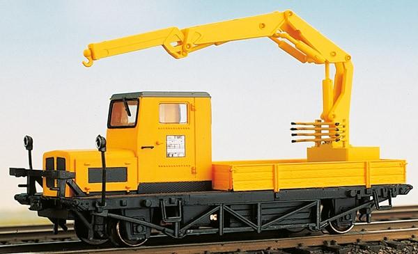 Klv 51 Atlas-Hydraulik-Kran - Fertigmodell - gelb - Epoche IV, Motraxx-Motor