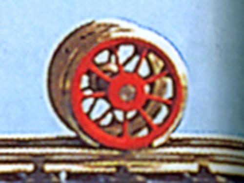 Vorlaufradsatz 9 Speichen, 850 mm (H0 = 9,8 mm)