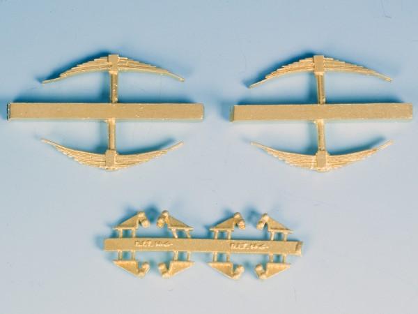 Französische Schakenböcke mit Federpaketen