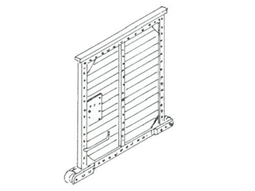 Schiebetüren für Güterzuggepäckwagen, z.B. Pwgpr 14