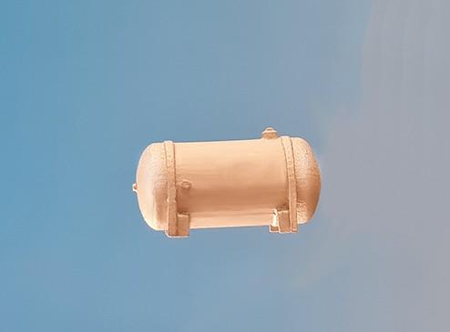 Luftkessel für Loks, 8mm Durchm., 17 mm lang, Vollmessing