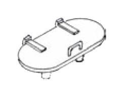 Wasserkastendeckel für Wannentender 1 Paar