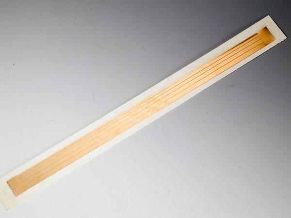 Federbronzestreifen 1,0 mm, 1,5 mm, 2,0 mm, 2,5 mm, 3,0 mm breit, 18 cm lang