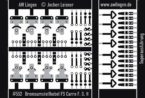 Bremsumstellhebel für FS Güterwagen, superfein