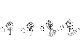 Reichsbahnlaternen, 4 x mit Fuß für Pufferbohle und Tenderrückwand und 2 Laternenhalter für LED-Bele
