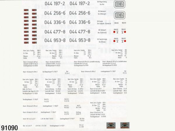 Schiebebildersatz Baureihe 44 mit Tender 2'2'T32 und 2'2'T34