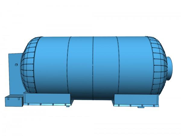 Rommenhöller Kohlensäurewagen (4 Kesselschüsse) - Teilesatz 3D-Druck - Spur 0