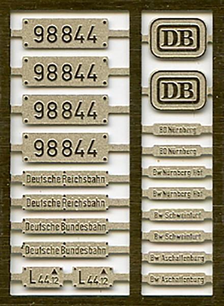GtL 4/4 Beschriftung 98 844 Epoche III