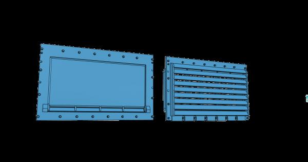 je 2 Lade- und Lüftungsklappen modernisierte DB-Form - 3D-Druck-Spur 1