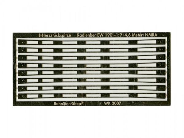 Futterstücke für Radlenker 4,6 m Vorbildlänge (NMRA)