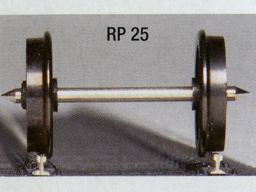 Weinert RP 25-Präzisions-Scheibenräder, brüniert zum Austausch für Wagen