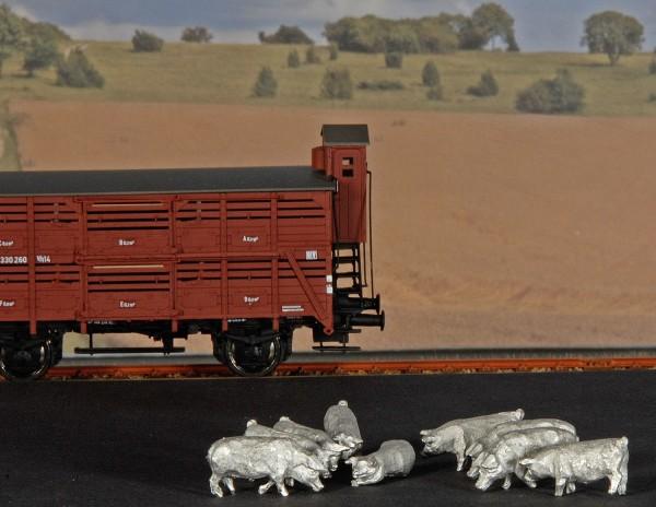 Gewichte für Verschlagwagen (Schweine) - 9 Stück