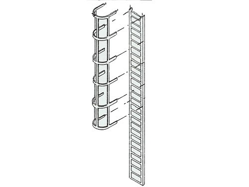 Leiter mit Schutzkorb, geätzt, 95 mm lang