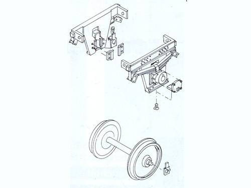 Güterwagen Achslager, gefedert, Scheibenradsatz, Spur 0