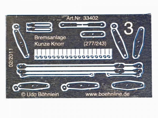 Bremsgestänge für Kkg-Bremse, asymmetrisch (277/243 mm)