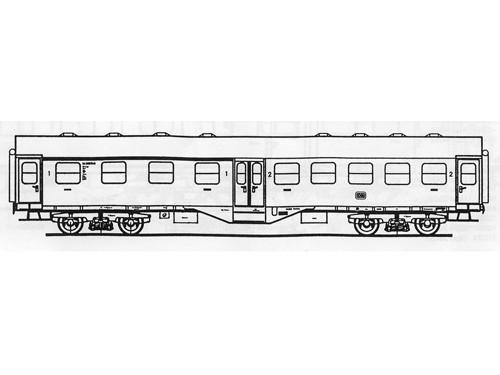 Beschriftungssatz DB Umbauwagen (4-achsig), Deutsche Bundesbahn, Epoche III