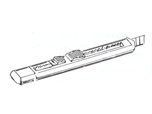 Bastelmesser mit Abbrechklingen, Metallausführung