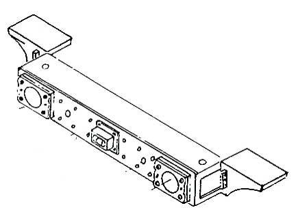 Einheitspufferbohle vorne mit Seitenabstützung für BR 24,64,86 u.a. (Weißmetall)