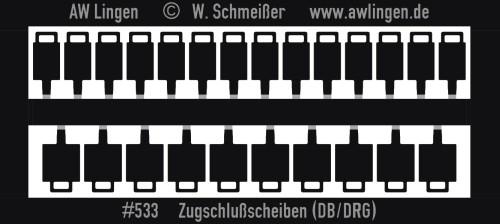 Zugschlußscheiben (DB/DRG) mit Decals
