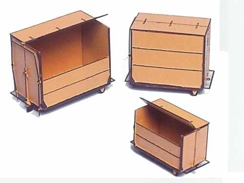 Klein-Container, 3 Größen je 1, 2, 3 m3