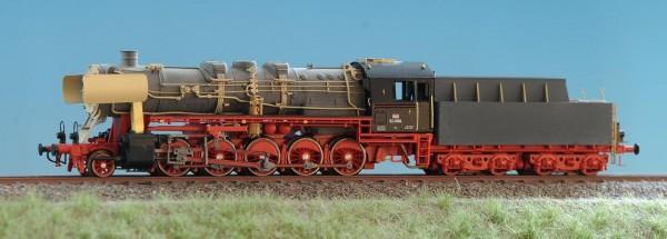 Umbausatz Lok 50 3109 DR, Epoche IV, 3-domiger Kessel, Oberflächenvorwärmer, Kriegskastentender - Sp