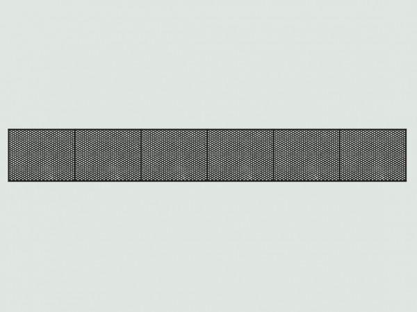 Riffelblechabdeckung für Gleise