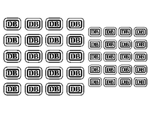 Satz DB-Kekse, weiß, Schiebebild - Spur H0