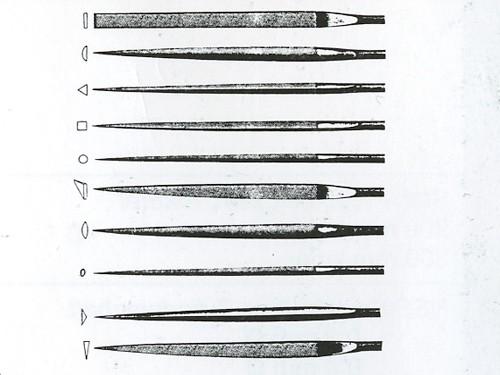 Nadelfeilensatz, Hieb 2, 10 Stück