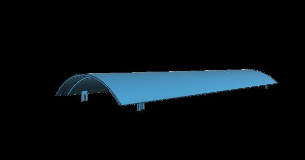 Dach für Gms54 mit PVC-Dachdecke für Brawa Gms54 passend - 3D-Druck