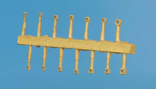 Flansch eckig 0,6; 0,7; 0,8 und 1,0 mm Leitungsdurchmesser