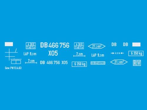 Beschriftungssatz X 05 auf G 10 Fahrwerk
