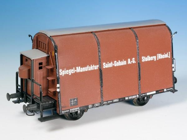 """Glastransportwagen """"Saint Gobain"""" - Umbausatz - DB Epoche 3 - Spur H0"""