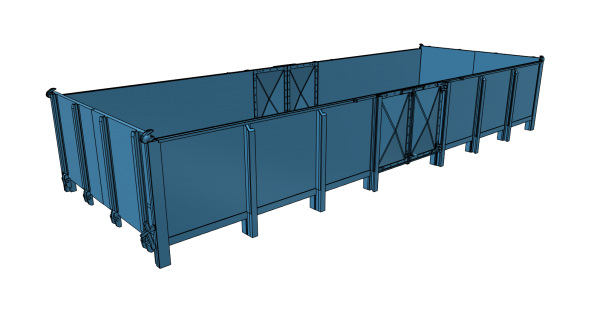 O 01 Blechwände Wagenkasten für Roco G10 Fahrwerk - 3D-Druck