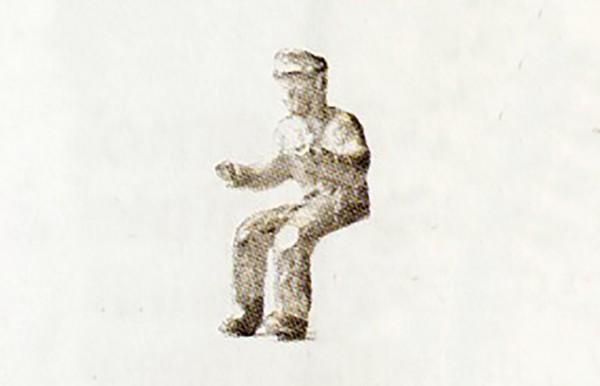 Sitzende Figuren für LKW, Diesel- und E-Lok, Weißmetall