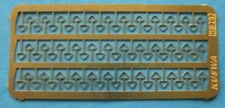 Seilösen für Güterwagen, 2 Varianten, je 36 Stück