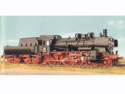 Baureihe 38 (P8), Witte-Bleche, Wannentender, Tonnendach, offenes Führerhaus, DKD-