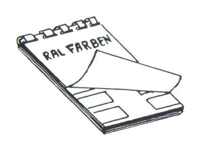 RAL-Karte des Farbregisters 840HR + F14 Sicherheits- und Verkehrsfarben