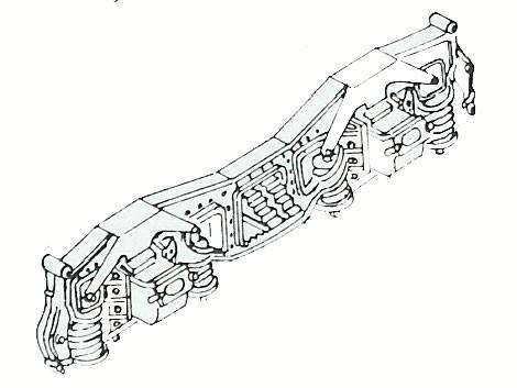 Drehgestellblenden für Tender 2'2'T32 mit Gleitlagern für Baureihe 01, 03, 41 und 44