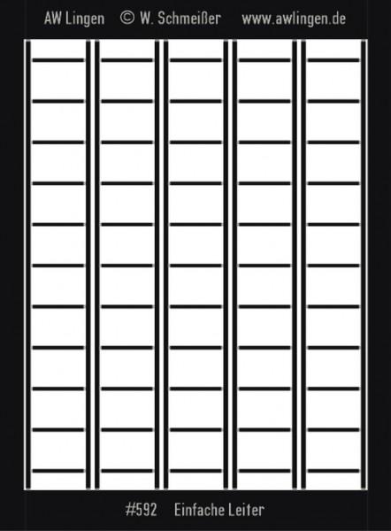 Einfache Leiter - Neusilber geätzt